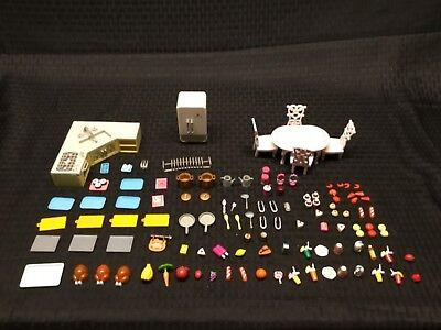 Hello Kitty - Sanrio -  Vintage Dollhouse Kitchen Accessories Lot  - Pre Owned