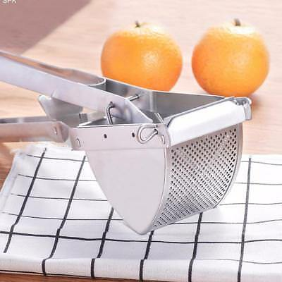 Stainless Steel Potato Masher Press Ricer Puree Fruit Vegetable Juicer Maker