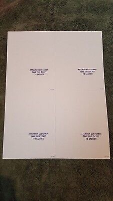 toys r us pre order ticket blanks 3 00 picclick