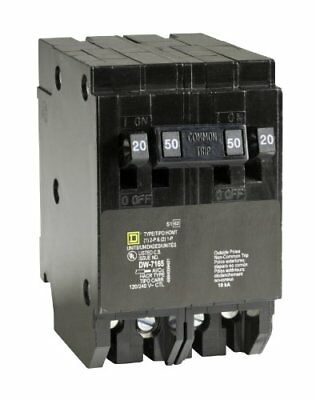 Square D Quad Tandem Circuit Breaker Homeline 2 20A Single Pole 1 50A 2 Pole