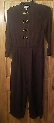 NEW St. John Collection Marie Gray Gold Hardware Brown ATTACHED Pant Suit 6