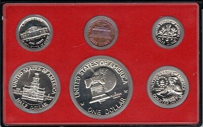 1976 Usa 6 Coin Mint Proof Set In Original Sealed Display Case
