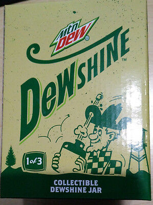RARE Dewshine Limited Edition Mason Jar 1 of 3 (New in Box) Dew Shine Mountain