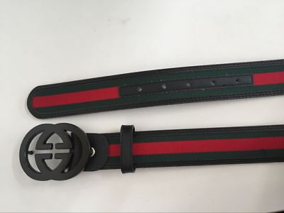 f4f8cfd50ec New Gucci Black Metal Buckle Belt Men Leather Belt 46 115 With Box Free  Shipping