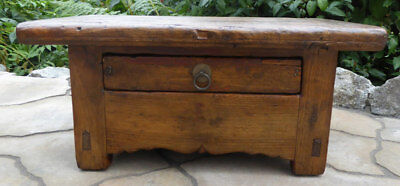 Antique Asian Wood Opium Bed Table RARE