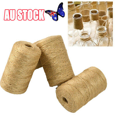 100M/Roll Natural Jute Rope Twine String Cord DIY Scrapbooking Craft Making New