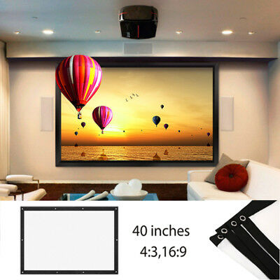 Folded Projection Screen Projector Screen Lightweight 16:9/4:3 Polyester