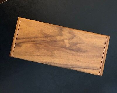 "Finely Crafted Teak & ""Exotic"" Cocobolo-Rosewood Box for your Desk"