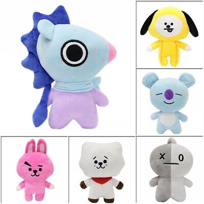 20CM KPOP BTS Bangtan Boys Soft Plush Toy CHIMMY COOKY TATA Doll Kids Gift UK