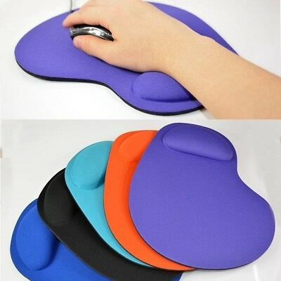 Mouse Pad Silicone Soft Gel With Wrist Rest Support Mat For Computer PC Laptop