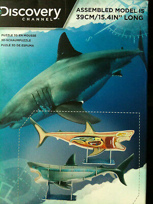 PALADONE DISCOVERY CHANNEL 3D Shark Anatomy Model Puzzle (Multi ...