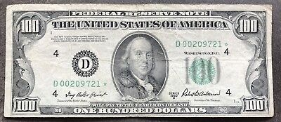 USA 100 Dollar 1950 B Federal Reserve Note D Cleveland Seltene STAR NOTE * #9237