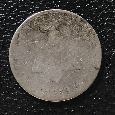 1853 Three Cent Piece Silver Trime 3c circulated mid grade #6899