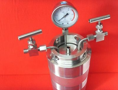 500ml Hydrothermal synthesis Autoclave Reactor vessel + inlet outlet gauge 6Mpa