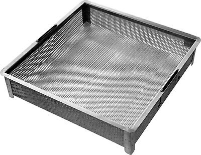 ACE Stainless Steel Compartment ETL Certified Sink Drain Basket 17-3/4 x 17-3...