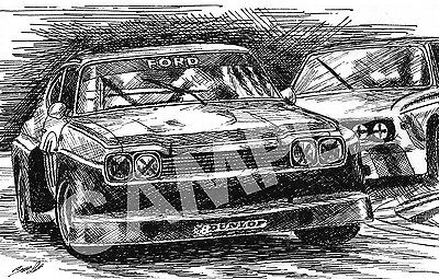 Ford Capri RS3100 Illustration Car Art Drawing Print