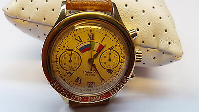 POLJOT CHRONOGRAPH Armbanduhr Uhr MOSCOW ROME 23 Jewels WATCH 1992