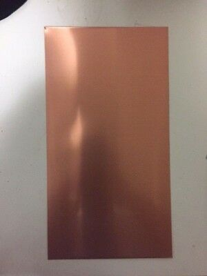 Copper sheet metal plates CU 200mm x 100mm 0.55mm thickness FREE POSTAGE