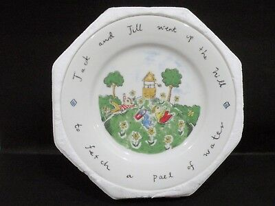 Australian Fine China Plate - Jack & Jill went up the hill - by Skye Rogers vgc