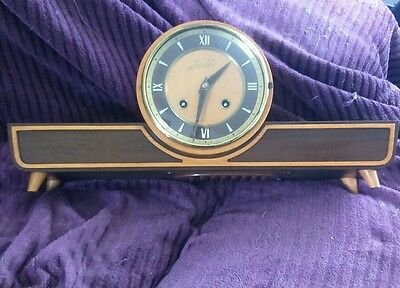 Junghams beautiful old Art Deco mantel clock with 8 day striking chimes