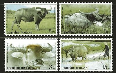 Thailand 2005 Letter Writing Week - Buffaloes set of 4 Mint Unhinged