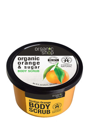 ORGANIC SHOP - Scrub Corpo all'Arancia Siciliana Esfoliante 99% Naturale 250 ml