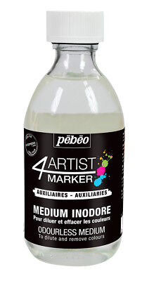Pebeo 4Artist Odourless Medium to Dilute, Blend or Remove Oil Marker 245ml