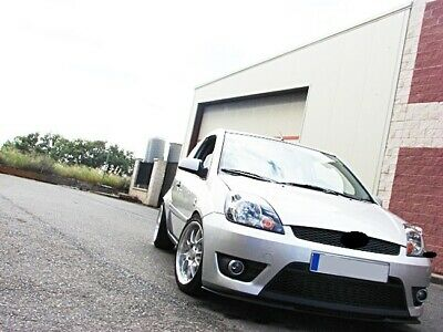 For Ford Fiesta MK6 6 Front Bumper Cup Chin Spoiler Lip Sport Valance Splitter_
