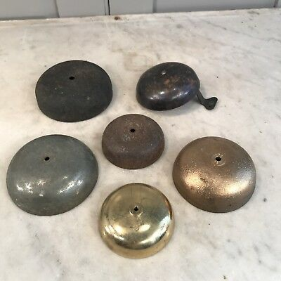 Collection of clock bells parts