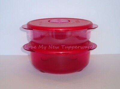 Tupperware Rock N Serve Set of 2 Round Containers 1.75-Cup & 2.5-Cup Pinks New