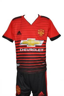 New Manchester United Red Plaine Home 2018/19 Kids Sizes Football Shirt&Short