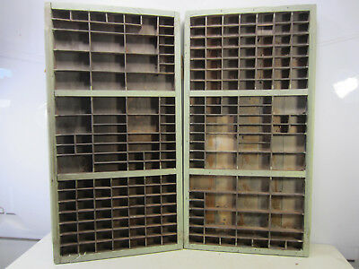 """2 Antique 32 1/2"""" x 16 3/4"""" x 1 1/2"""" Wooden Printer's Drawers/Trays #3"""