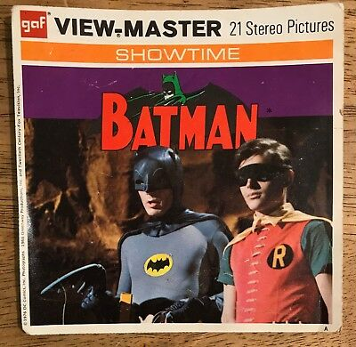 Vintage 1976 Viewmaster Batman Stereo Picture Reels and Booklet - Packet B 492