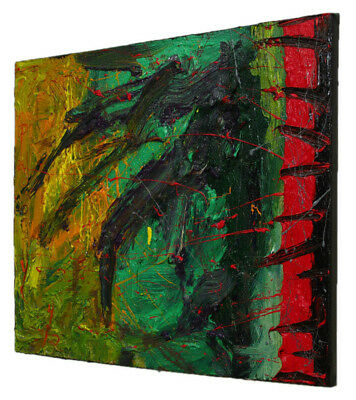 Original█Oil█Painting█Contemporary Outsider█Art Realism Signed Abstract A Modern