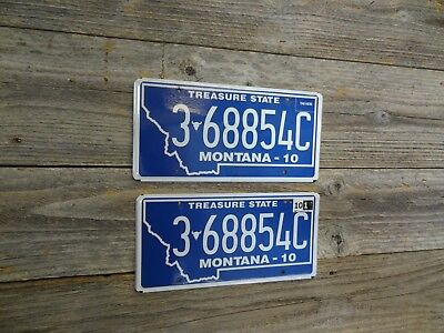 Montana license plate *New Font*  Buffalo Skull Big Sky Country Blue plates