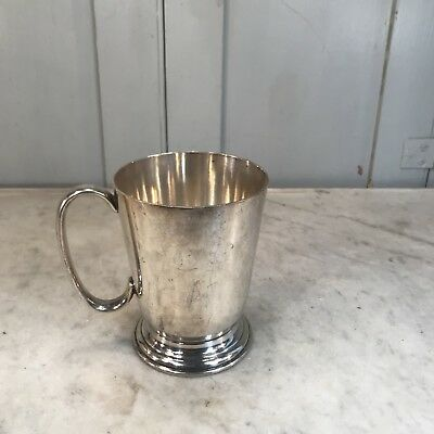 Antique silver plated cup or tankard