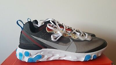 new style 3c154 00b6b Nike Element React 87 Dark grey   Platinum   blue UK 8 with reciept
