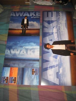 JOSH GROBAN-(awake)-1 POSTER-2 SIDED-12X30-MINT-RARE