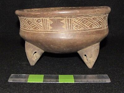 """Pre Columbian, Pottery, Costa Rican, Choice """"Rattle Leg"""" Bowl, P. Cl 600-1200 AD"""
