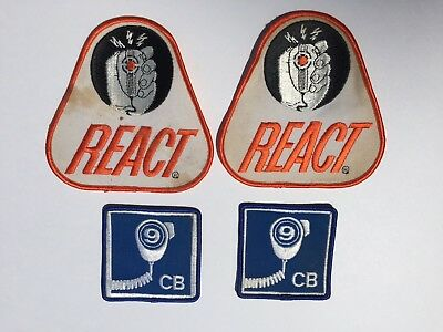 React Police Patch Lot of 4 CB Ham Radio Patches *FREE FAST SHIP*