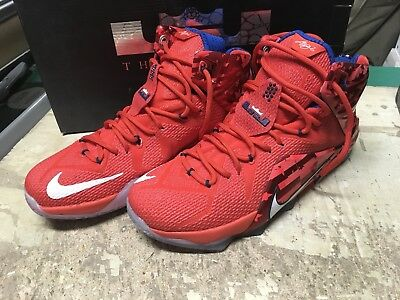 5ea53a81f1a Used Mens Nike Lebron Xii 12 July 4Th Independence Day 684593 616 Sz 10.5  Free