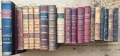 A Collection of 18 Half-Leatherbound Books - See Titles below