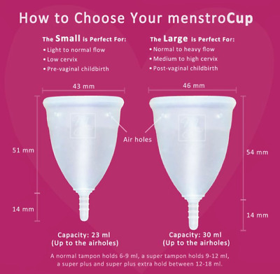 MENSTRAL CUP, Size Small, eco friendly, Reusable, great for traveling