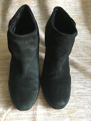 e0c40c610a8d Kate Spade New York Black Suede Ankle Boots Booties Bow Size 10.5 M