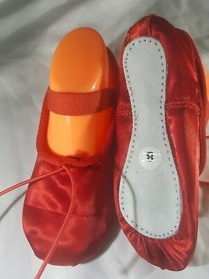 SALE ! WAS £13 NOW£4 CHILD RED SATIN SPOTTY BALLET SHOE  3//4//5//6//7//8//9//10//11//12