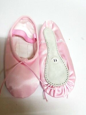 Ballet Shoes Pink Satin  with full sole for Girls/Woman