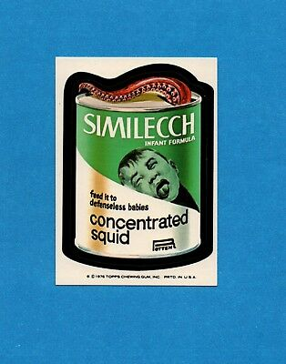 1975 1976 Topps Wacky Packages SIMILECCH SQUID 16th Series Sticker Card NM