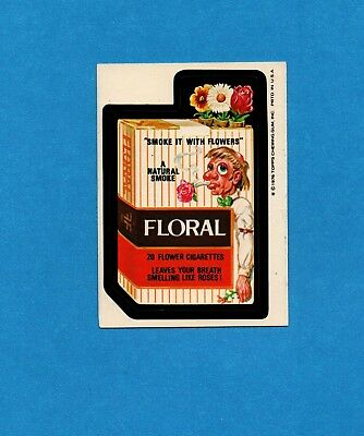 1975 1976 Topps Wacky Packages FLORAL FLOWER CIGARETTES 16th Series Sticker