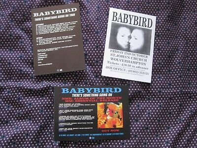 3 flyers Babybird 1998 tour inc rare intimate St John's Church Wolverhampton gig