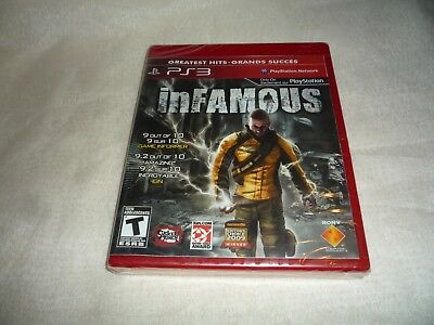 inFamous (Sony PlayStation 3, 2009)  BRAND NEW AND SEALED